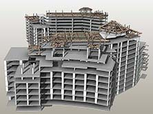 Building Central 3D View Frontview