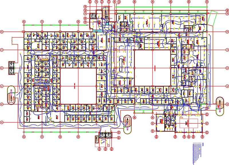 MEP Services Projects: MEP Coordinated shop drawings services, HVAC Design  & Drafting Samples | Hvac Drawing Samples |  | Tesla-JBH