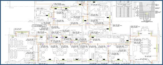 Electrical Design Drafting Services MEP Layout
